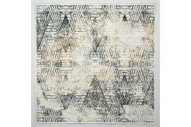Panel poduszkowy - wzór geometryczny, brązowo-szary