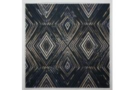 Panel poduszkowy - wzór geometryczny, granatowo-brązowy