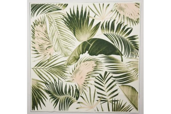 Panel poduszkowy - różowo-zielone liście