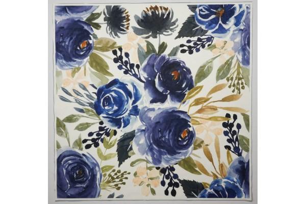 Panel poduszkowy - granatowe róże