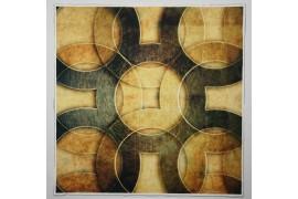Panel poduszkowy - złote koła