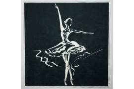 Panel poduszkowy - czarno-biała baletnica