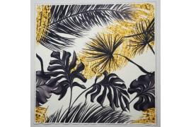 Panel poduszkowy - grafitowo-złote liście