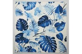Panel poduszkowy - niebieskie liście