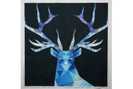 Panel poduszkowy - niebieski jeleń