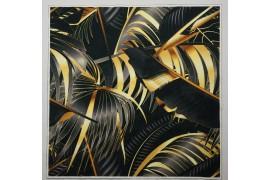 Panel poduszkowy - czarno-złote liście