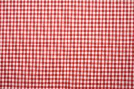 Bawełna vichy - czerwona kratka, 0.5 cm