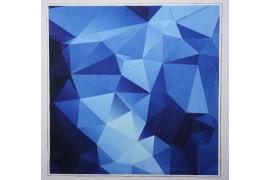 Panel poduszkowy - niebieski wzór 3d
