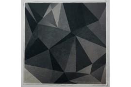 Panel poduszkowy - szary wzór 3d