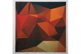 Panel poduszkowy - pomarańczowy wzór 3d