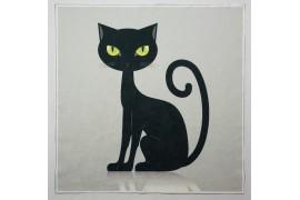 Panel poduszkowy - kot na szarym tle