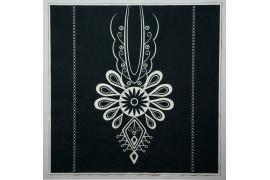 Panel poduszkowy - biała parzenica, czarne tło