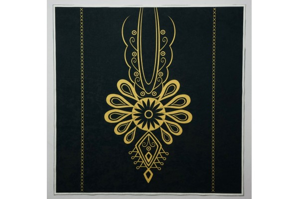 Panel poduszkowy - złota parzenica, czarne tło