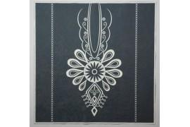 Panel poduszkowy - biała parzenica, grafitowe tło