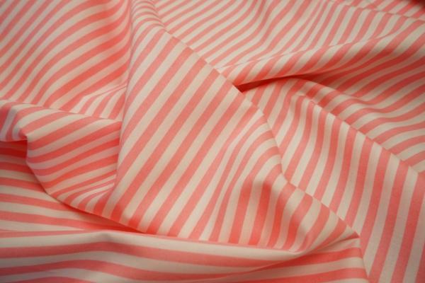 Bawełna - paski w kolorze jasnego pudrowego różu 5 mm