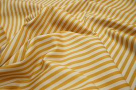 Bawełna - karmelowo-białe paski 5 mm