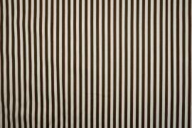 Bawełna - brązowo-białe paski 5 mm