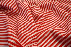 Bawełna - czerwono-białe paski 5 mm