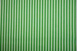 Bawełna - zielono-białe paski 5 mm
