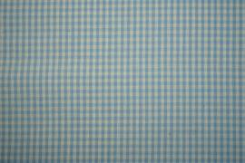 Bawełna vichy - błękitna kratka, 3 mm
