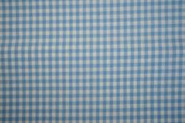 Bawełna vichy - błękitna kratka, 5 mm