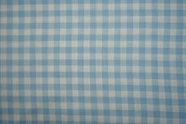 Bawełna vichy - błękitna kratka, 1 cm