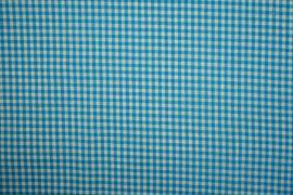 Bawełna vichy - turkusowa kratka, 3 mm