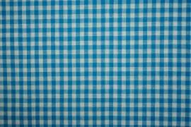 Bawełna vichy - turkusowa kratka, 5 mm