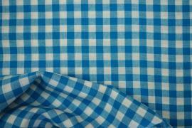 Bawełna vichy - turkusowa kratka, 1 cm