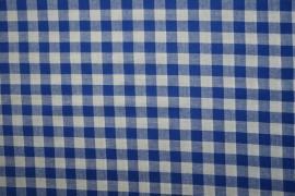Bawełna vichy - jasnogranatowa kratka, 1 cm