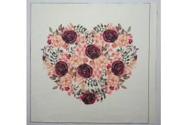 Panel poduszkowy - wianek w kształcie serca