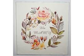 Panel poduszkowy - wianek z dzikiej róży