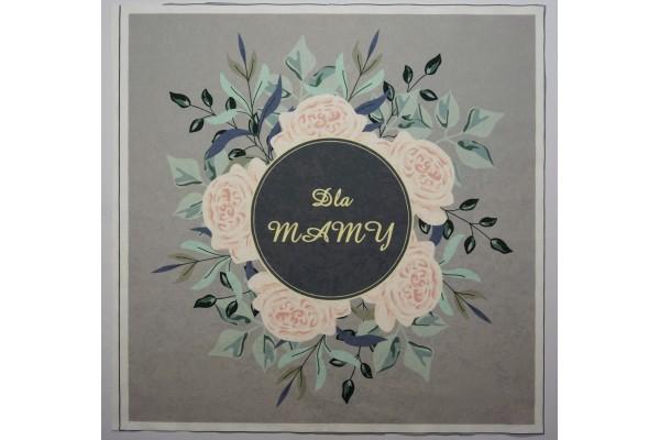 Panel poduszkowy - pastelowe róże na szarym tle