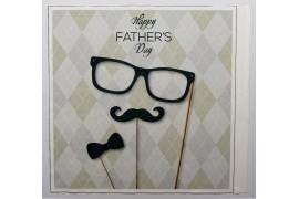 Panel poduszkowy - napis Happy father's day na kratce