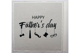 Panel poduszkowy - czarny napis Happy father's day na białym tle