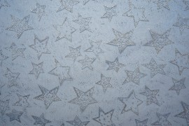 Organtyna - srebrne gwiazdki, chabrowe tło