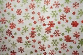 Organtyna - kolorowe śnieżynki na białym tle
