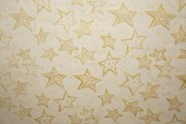 Organtyna - złote gwiazdki na białym tle