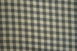 Bawełna vichy - popielato-beżowa kratka, 1 cm