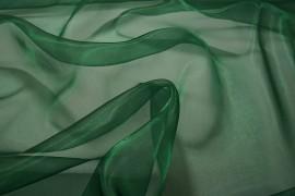 Organtyna w kolorze butelkowej zieleni