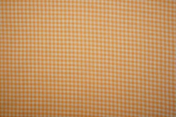 Bawełna vichy - pomarańczowa kratka, 3 mm