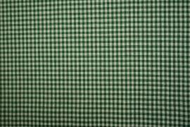 Bawełna vichy - ciemnozielona kratka, 3 mm