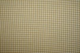 Bawełna vichy - beżowa kratka, 3 mm