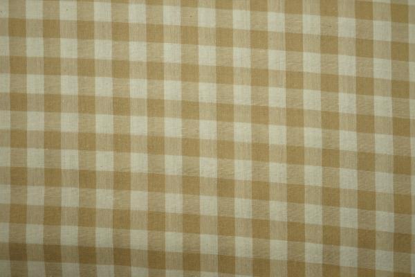 Bawełna vichy - beżowa kratka, 1 cm