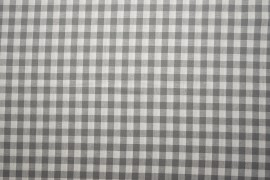 Bawełna vichy - szara kratka, 1 cm