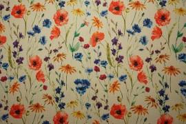 Len z wiskozą - kwiaty