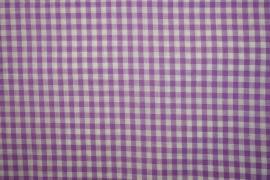 Bawełna vichy - lilia, kratka 5 mm