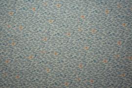 Bawełna drukowana w niebieskie rybki