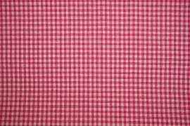 Bawełna vichy - różowa kratka, 3 mm