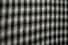 Bawełna vichy - czarna kratka, 3 mm